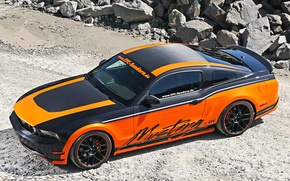 Picture Ford, Orange, Carbon, Tuning, Mustang GT