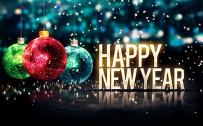 Wallpaper Happy, 2015, New Year, Merry, balls, New Year, Christmas, Christmas