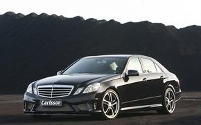 Picture black, Mercedes, drives, carisson