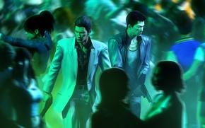 Picture bandit, crossover, police, Sleeping Dogs, Yakuza, Wei Shen, Kazuma Kiryu