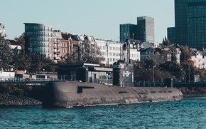 Picture Submarine, port, Museum, Hamburg, diesel, Soviet, electric
