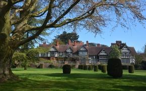 Picture autumn, Park, England, UK, architecture, park, autumn, England, Wightwick Manor, Wolverhampton, Wolverhampton
