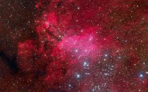 Picture Scorpio, constellation, emission nebula, IC 4628
