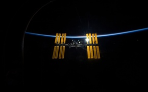 Picture earth, space, light, ISS, Space, International, ISS, background, Wallpaper, planet, satellite, ship, brightness, horizon, atmosphere, …