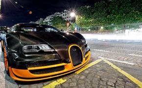 Picture black, tuning, veyron, bugatti, Bugatti, Veyron, hypercar