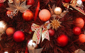 Picture decoration, tree, new year