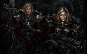 Picture women, weapons, Warhammer, Adept Sororitas, Sisters Of Battle, 40k