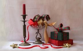 Wallpaper holiday, still life, Christmas Gifts
