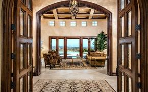 Picture design, style, Villa, interior, living room
