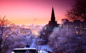 Picture winter, the city, photo, Prague, Czech Republic