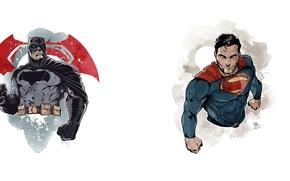 Picture batman, superman, Clark Kent, Bruce Wayne, batman vs superman