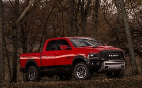 Picture Dodge, Red, Truck, Pickup, Rebel, RAM 1500, HEMI 5.7 Liter