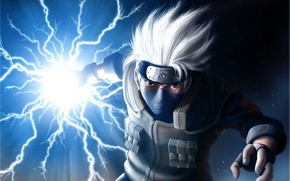 Wallpaper zipper, naruto, scar, art, makeup, hatake kakashi