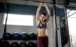 Picture face, hair, figure, hall, fitness, press, inventory, Dani, sports style