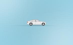 Picture machine, minimalism, car, Mercedes, mersedes, mersedes c200