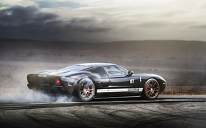 Picture supercar, burnout, ford gt