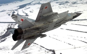 Wallpaper winter, snow, flight, height, wing, Fighter, Engine, Russia, the plane, aircraft, military, BBC, flight, winter, ...