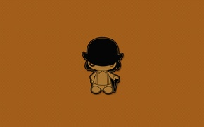 Wallpaper minimalism, hat, cane, a clockwork orange, clockwork orange, Kubrick, Clockwork orange
