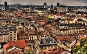 Picture city, the city, building, roof, Croatia, capital, Croatia, Zagreb, Zagreb