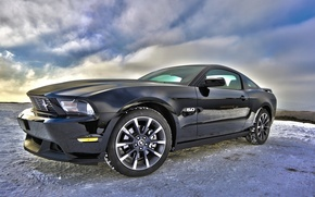 Picture Ford, Ford, Mustang 5.0, HDR photo, Mustang 5.0
