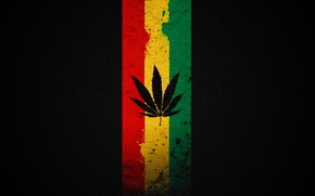 Wallpaper minimalism, Rasta, Ganja, marijuana, hemp, grass, weed, leaves, drug, crap, ponika, Rastaman