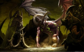 Wallpaper the devil, WoW, hell, World of Warcraft, Illidan