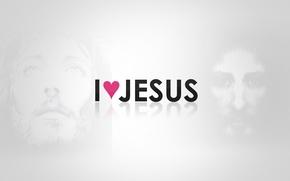 Picture love, heart, Jesus