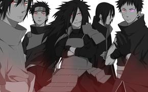 Picture art, guys, Naruto, Naruto, Uchiha, clan