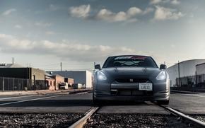 Picture Matt, before, Nissan, GT-R, black, Nissan, front