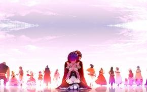 Picture the sky, anime, art, drama, characters, Re: Zero kara hajime chip isek or Seikatsu