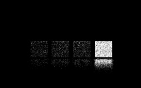 Picture reflection, square gray, square white