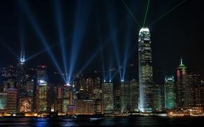 Picture night, lights, beauty, Hong Kong