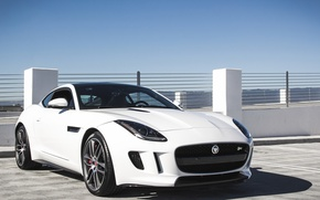 Picture white, jaguar, coupe, f-type