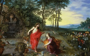 Picture picture, mythology, Jan Brueghel the younger, Don't Touch Me