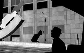 Picture Wallpaper, Photo, Silhouette, Man, Lantern, Rinzi Ruiz, Black & White
