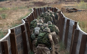 Wallpaper army, soldiers, exercises, the trenches