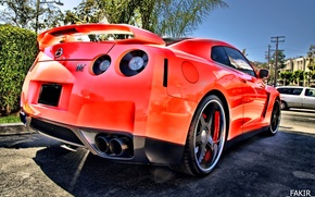 Picture Machine, Nissan, red, gt-r