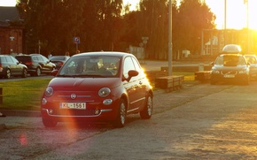 Picture Sunset, The evening, 500, Fiat