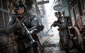 Picture the city, war, street, the game, soldiers, the Germans, Electronic Arts, Battlefield 1
