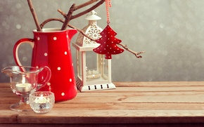 Picture holiday, New Year, Christmas, lantern, Happy New Year, Merry Christmas, holiday, decoration, candle, lantern, candle