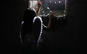 Wallpaper angel, girl, prison
