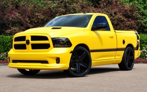 Picture Dodge, yellow, front, 1500, track, ram, rumble bee concept