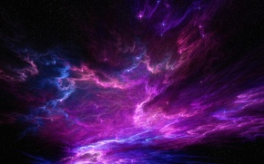 Picture space, nebula, lights, lights, fiction, patterns, art, layers, cloud, flickering, star placer, overlay