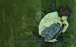 Picture background, art, guy, Death Note, Death note