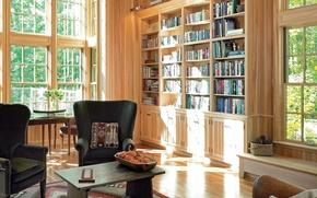 Picture design, style, room, Villa, interior, library
