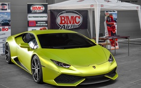 Picture green, wheels, lamborghini, tuning, power, front, face, italy, LB724, huracan