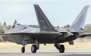 Picture fighter, the airfield, Raptor, Lockheed, multipurpose, F-22A