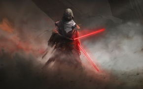 Picture fiction, art, star wars, lightsaber, sith