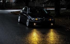 Picture BMW, black, drives, Coupe, E46