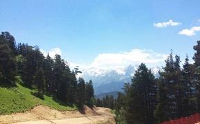 Picture road, mountains, The Caucasus